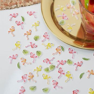 Colourful Flamingo Table Confetti